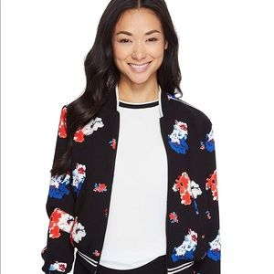 Vince Camuto Bloom Zip Front Bomber Jacket